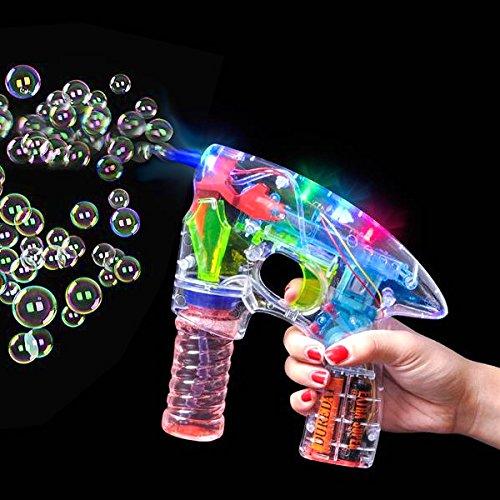 German Trendseller® - LED Seifenblasen Pistole ┃ Light UP ┃ Mitgebsel ┃ Kindergeburtstag ┃ Bubble Gun für Kinder