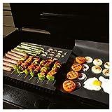 Ardisle 4pc BBQ Grill Mat Table Resistente y antiadherente Hornear reutilizable Cocinar carne antideslizante