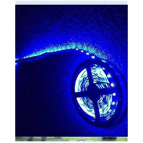 XMQC*Tira de luz LED diodo emisor de luz 600X3528 Luz Blanca impermeable DC12V 5M , blanco cálido.