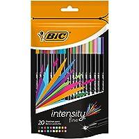 BIC Intensity - Pack de 20 rotuladores de punta fina, color surtido