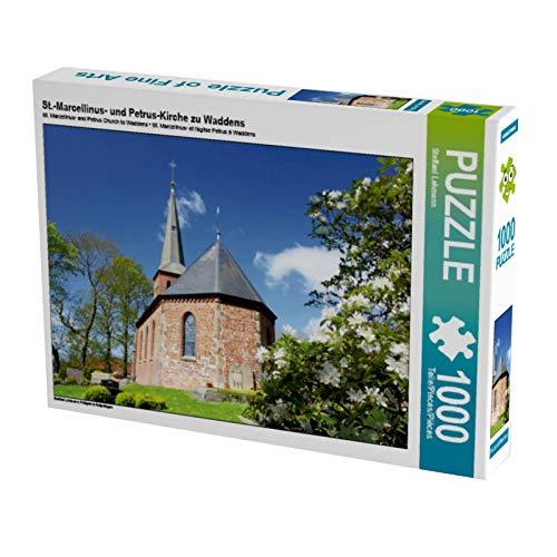 CALVENDO Puzzle St.-Marcellinus- und Petrus-Kirche zu Waddens 1000 Teile Lege-Größe 64 x 48 cm Foto-Puzzle Bild von Steffani Lehmann