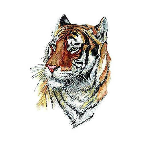 WYUEN 5 STÜCKE Tiger Männer Körper Temporäre Tattoo Aufkleber Frauen Fake Tattoo Aufkleber Körper Kunst 9,8X6 cm A-269