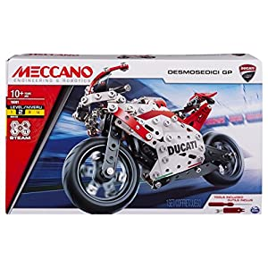 Meccano – Ducati Desmosedici GP S.T.E.A.M Building Kit with Coil-spring Suspension, for Ages 10 and Up