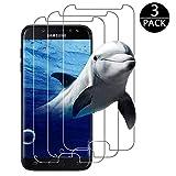 [3 Stück] Samsung Galaxy J5 2017 Panzerglas, FIGEMN Samsung Galaxy J5 2017 Schutzfolie, Anti-Öl & Fingerabdruck, 9H Härtegrad, HD Ultra-Klar, Anti-Kratzer Panzerglasfolie für Samsung Galaxy J5 2017