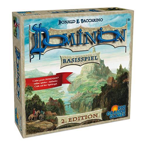 Rio Grande Games 22501413 - Dominion Basisspiel - zweite Edition; Neuauflage des Spiel des Jahres 2009 (Familien Strategiespiel) (Dominion Brettspiel)
