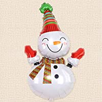 Party R Us Giant Snowman, Snowman, Christmas - Large, Airwalk Foil Balloon (90cm or 35inch)