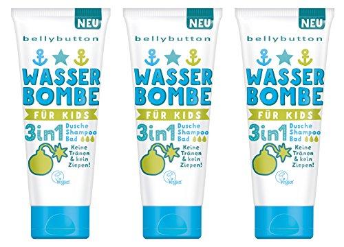 BELLYBUTTON Wasserbombe 3in1 Dusche, Shampoo, Bad, 3er Pack á 200 ml