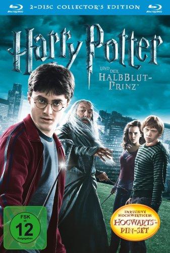 Preisvergleich Produktbild Harry Potter und der Halbblutprinz (Collector's Edition inkl. Hogwarts-Pin-Set) (2 Blu-rays) [Blu-ray]
