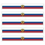 5 x Aufkleber RUSSLAND f. KFZ Auto Motorrad Boot Flagge Fahne RUSSIA