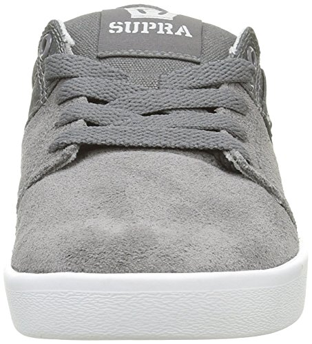 Supra Stacks II, Baskets Basses Mixte Adulte Gris (Charcoal/White)