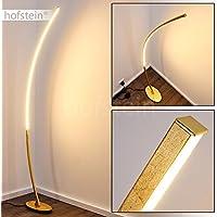 Lámpara de pie de diseño LED - muy extravagante - lámpara de pie curvada con interruptor de pie y cable - llamativa lámpara de sala semicircular - lámpara de lectura -