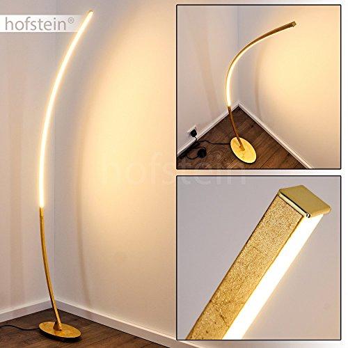 LED Designer Standlampe – sehr extravagant – Gebogene Stehleuchte mit Fußschalter und Kabel – auffällige halbrunde Zimmerlampe – Leselampe - fest eingebaute LEDs 1100 Lumen – 3000 Kelvin – 11 Watt