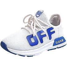 ZARLLE Zapatos Bebé prewalker Niños Infantil Niño Niña Carta Imprimir Malla Running Zapatos Calzado deportivo casual