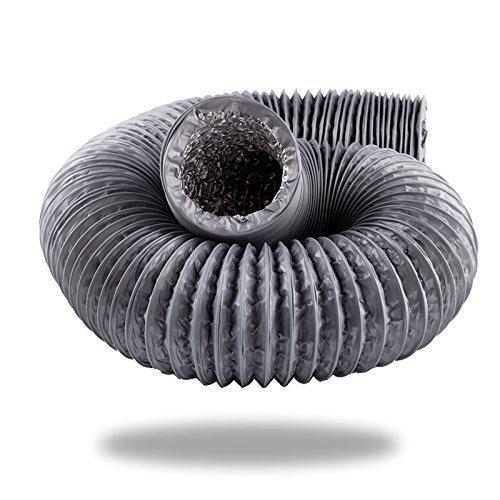 Condotto a spirale per climatizzatori Corrugato termoresistente flessibile per riscaldamenti e condizionatori 10m Tubo in alluminio per aerazione /Ø100mm di eyepower