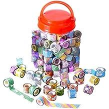 85Rollen Washi Tapes, Mini Deko Washi Klebeband für Scrapbooking Büro Party Supplies und Geschenkverpackungen
