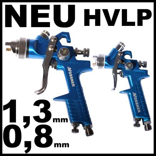 2X HVLP PISTOLA AEROGRAFICA 0 8MM + 1 3MM (INCLUYE MALETIN