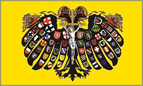 UB Fahne / Flagge Quaternionenadler Heiliges Römisches Reich Deutscher Nation 90 cm x 150 cm Neuware!!!