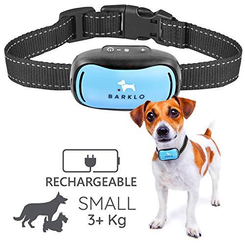 Barklo Pequeño Collar Anti ladridos para Perros Descargas Recargable 12-49cm y Resistente...