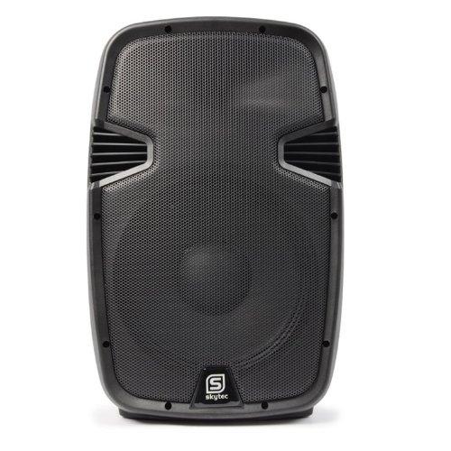 Skytec SPJ1200ABT Cassa attiva amplificata diffusore con Bluetooth (800 Watt, subwoofer da 38 CM, USB SD MP3, XLR, ABS, MIC IN)