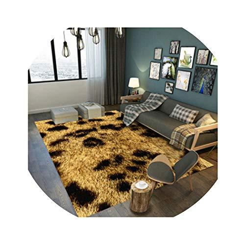 Leopardo geométrica Alfombras impresas Alfombras de área para la sala de estar Dormitorio Decoración Salón de la moqueta puerta de la estera Tapete decorativo, Carpet8,50x80cm