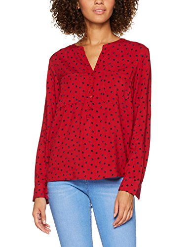 TOM TAILOR Damen Bluse Casual Print Blouse, Rot (Scooter Red 4543), 38 (Leichte Print-bluse)
