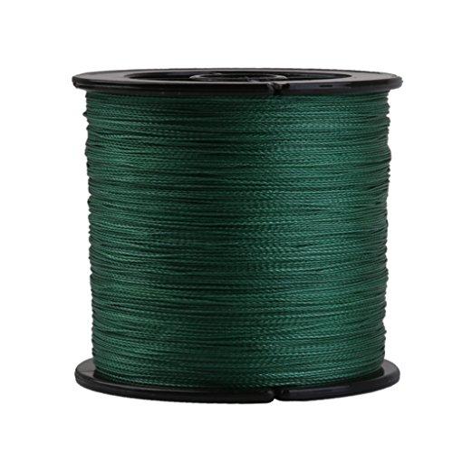 Magideal 50LB 300M 0.32MM Hilo Línea Sedal Trenzada Pesca 22.6kg Color Verde Oscuro
