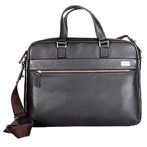 Cross Men's Genuine Leather Slim Briefcase with Free Cross Agenda Pen (AC021023) (Coffee)
