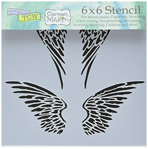 "Bible Journaling Stencil - Angel Wings (6"" X 6"")"