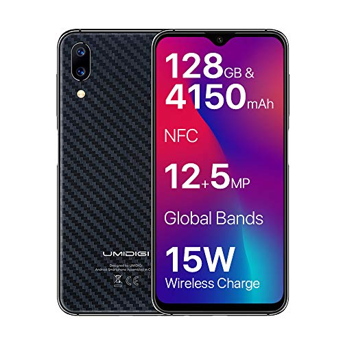 """UMIDIGI One Max Smartphone, 6.3\"""" 4G LTE Entsperrt Handy, Android 8.1 Octa Core 4GB+128GB, 3 Kamera, Fingerabdruck Scanner, Gesichtserkennung, NFC, Schnellladefunktion, Induktives Aufladen"""