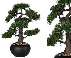 k nstlicher bonsai zeder mit 48cm im schwarzen keramiktopf k nstliche bonsai pflanzen. Black Bedroom Furniture Sets. Home Design Ideas