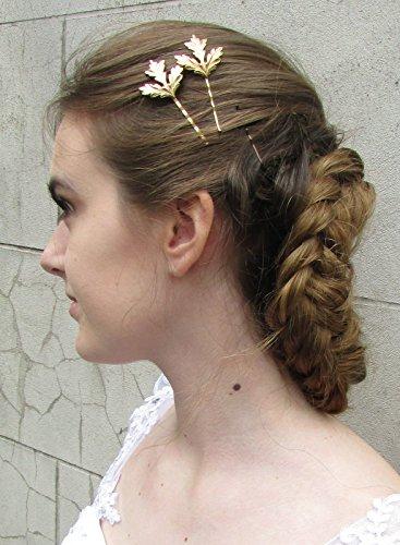 2 x or Chardon Feuilles cheveux clips Bobby broches de mariée mariage écossais Lames W05 * * * * * * * * exclusivement vendu par – Limitée * * * * * * * *