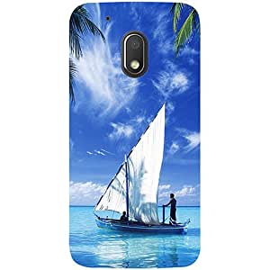 Casotec Indian Ocean Design 3D Printed Hard Back Case Cover for Motorola Moto G4 Play
