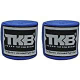 TOP KING Bandagen, blau, elastisch, 4.5 m, Hands Wraps, Wickelbandagen