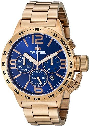 Tw Steel Unisex Chronograph Quarz Uhr mit Edelstahl Armband CB183