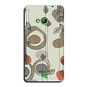 Mozine Leaf String Pattern printed mobile back cover for Microsoft Lumia 535