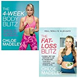 Chloe madeley collection 2 books set (4 week body blitz, the fat loss blitz)