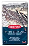 Derwent Kohlestifte mit Farbnuancen in Metallbox 12 Stück