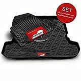 Autoteppich Stylers Gummimatten + Kofferraumwanne (Set) passgenau für ATS_Koffer_Set_08090