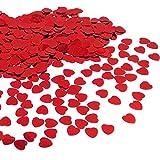JZK® 5000 pz 1cm scintillante plastica coriandoli cuore rossi cuoricini decorazione tavolo per...