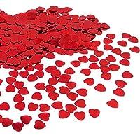 * Coriandoli matrimonio rossi, sono fatti di plastica, hanno effetto scintillante . Niente odore cattivo. * Piccolo, sottile e leggero, Dimensioni: 1.1*1.1*0.5CM. Spessore: 0.5MM, 1000 pezzi = 30 g. * Coriandoli cuore amore possono essere uti...