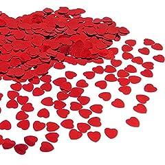 Idea Regalo - JZK® 5000 pz 1cm scintillante plastica coriandoli cuore rossi cuoricini decorazione tavolo per matrimonio compleanno San Valentino battesimo addio al nubilato