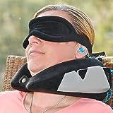 Kit d?oreiller de voyage Ultimate Industries, meilleur oreiller pour le cou lors des voyages en avion, inclut un masque de...