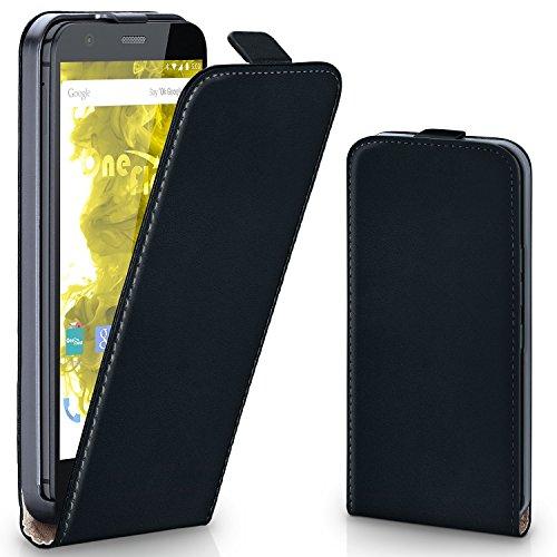 moex Motorola Moto G   Hülle Schwarz 360° Klapp-Hülle Etui thin Handytasche Dünn Handyhülle für Motorola Moto G 1. Generation Case Flip Cover Schutzhülle Kunst-Leder Tasche