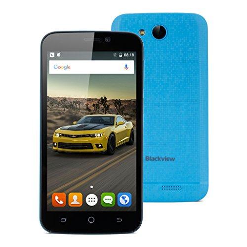 BlackviewA5Quad-core4.5Zoll 3G-Smartphone Android6.01GB+8GBDual KameraGestureWifiBluetoothGPSFM Blau