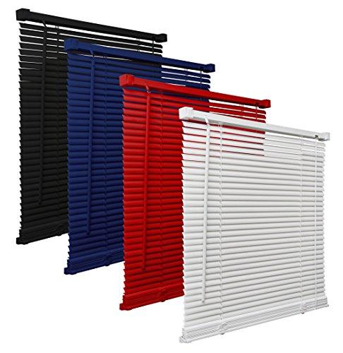 way2way Kunststoff Jalousie (PVC) | weiss 70 x 220cm für TÜREN | - viele Farben & Größen (Pvc-jalousie)