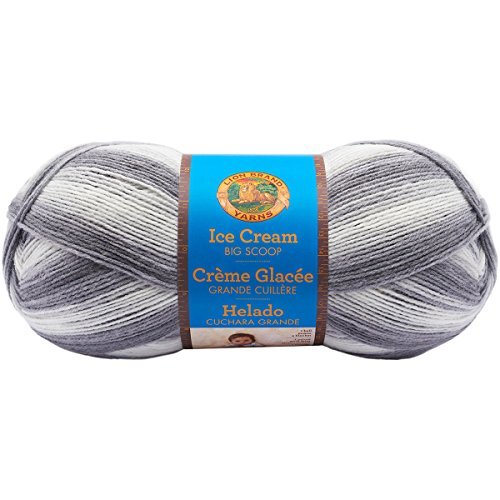 Lion Brand Yarn Ice Cream Big Scoop Yarn-Cookies & Cream - Scoop Für Cream Ice