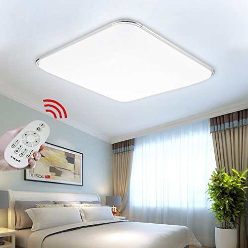Hengda® 12W LED Deckenlampe Dimmbar Fernbedienung 80LM-1080LM Schlafzimmer Deckenbeleuchtung Alu-matt IP44 Badlampe