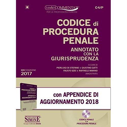Codice Di Procedura Penale Annotato Con La Giurisprudenza-Appendice Di Aggiornamento 2018. Con Cd-Rom
