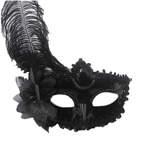 HLCE 2 stücke Halloween Party Federform Maske Maskerade Ball Halloween Party Kostüm (Payaso Disfraces Halloween)