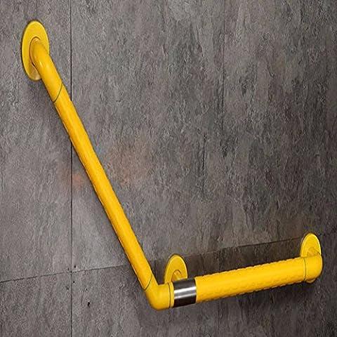 MDRW-Main courante de sécuritéRails de sécurité de baignoire, antimicrobienne en nylon acier inoxydable grab bar, balustrade de Rod l auxiliaire,Jaune